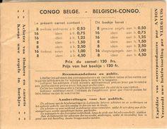 BELGIAN CONGO, 1937, Booklet 5, 120 Fr - Booklets
