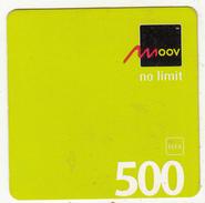 BENIN - Moov Mini Prepaid Card 500 FCFA, Exp.date 12/04/10, Used - Benin