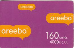 BENIN - Areeba Prepaid Card 4000 FCFA, Used - Benin