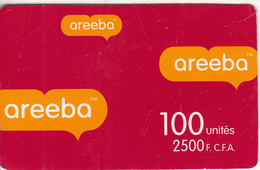 BENIN - Areeba Prepaid Card 2500 FCFA, Used - Benin