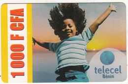 BENIN - Child, Telecel Prepaid Card 1000 FCFA, Exp.date 31/03/11, Used - Benin