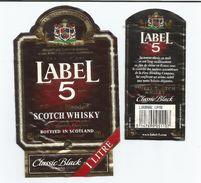 LABEL 5, Finest Bklended Scotch Whisky, Classic Black, 40°, Bouteille De 100 Cl. - Whisky