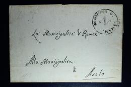 Italy:  Letter Commune La Roman To Asola 1807 - 1. ...-1850 Vorphilatelie