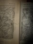 1886 :   3 Cartes De BOURGES (NO, NE ,SO)  ,levées Par Les Officiers, Imprimerie Zinconographique Du Dépot De La Guerre - Geographical Maps