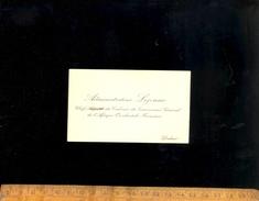 Carte De Visite  Administrateur LEJEUNE Chef Du Cabinet Du Gouverneur Général De L'Afrique Occidentale Française DAKAR - Visiting Cards