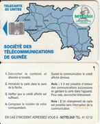 GUINEA - Blue Map 50 Units(reverse C), CN : C55150140, Used - Guinée