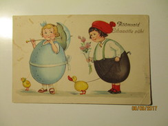 ESTONIA EASTER , CHILDREN IN EGG COSTUMES , OLD POSTCARD , KO - Easter