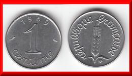 VARIETE **** 1 CENTIME 1969 EPI AVEC QUEUE LONGUE (QUEUE DU DEUXIEME 9 PLUS LONGUE) **** EN ACHAT IMMEDIAT !!! - Francia