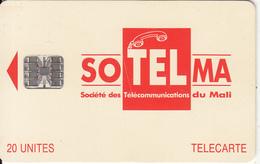 MALI - Soltelma Logo(small) 20 Units, Reverse B(with Moreno Logo), Chip SC7, Red CN : C46145575, Used - Mali