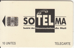 MALI - Soltelma Logo(small) 10 Units, Reverse B(with Moreno Logo), Chip SC7, Red CN : C46145637, Used - Mali