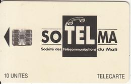 MALI - Soltelma Logo(small) 10 Units, Reverse B(with Moreno Logo), Chip SC7, Red CN : C45145153, Used - Mali