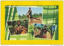 GUINE BISSAU GUINEA 1960 YEARS AFRICA AFRIKA AFRIQUE ETHNIC NUDES NUDE BLACK WOMAN & MAN POSTCARD - Guinea-Bissau
