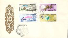 Mongolia 1965 FDC (2) Mi# 377-384 - International Quiet Sun Year / Space - FDC & Commemoratives