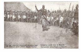 Duitsch Oost Afrika / Est Africain Allemand - Belgische Bezetting - Advertentie Postkaart - Gewapende Inboorlingen 1917 - Rwanda