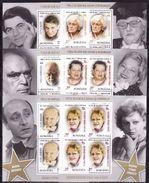 Romania, 2014, Famous Person, Actors, 6 Minisheets - 1948-.... Repúblicas