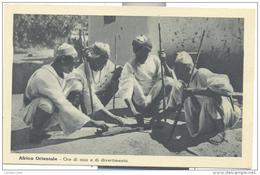 AFRICA ORIENTALE  ORE DI OZIO E DI DIVERTIMENTO NON VIAGGIATA F.P - Somalie