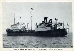 N°55048  -cpa S.S. Shellphalte  -ste Maritime Shell- - Commerce