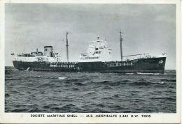 N°55049  -cpa S.S. Mexphalte  -ste Maritime Shell- - Commerce