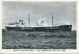 N°55049 GF -cpa S.S. Mexphalte  -ste Maritime Shell- - Handel