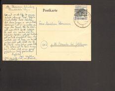 Alli.Bes.12 Pfg.Arbeiter Bandaufdruck Auf Postkarte Aus Lüneburg 1.7.1948 - Bizone