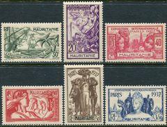 Mauritanie 1937. Michel #70/75 VF/MNH. World Exhibition In 1937, Paris. (Ts48) - 1937 Exposition Internationale De Paris