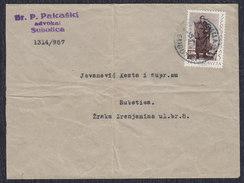 Yugoslavia 1952 Marshal Tito, Letter Subotica, Loco - 1945-1992 Socialist Federal Republic Of Yugoslavia