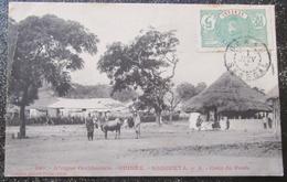 Guinée Française  Sougueta Cour Du Poste Cpa Timbrée - Guinea