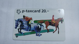 Switzerland-(w-25c)-zurich-CSI-zurich Art-(622l)-(20chf)-tirage-3.750-used+1card Prepiad Free - Suisse