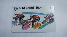 Switzerland-(w-28b)-zurich-sechstagerennen Art-(622l)-(10chf)-tirage-4.450-used+1card Prepiad Free - Suisse