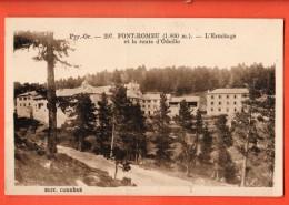 IBY-09  Pont-Romeu  L'Ermitage Et La Route D'Odeillo, Edition Carrère. Circulé Sous Enveloppe - Autres Communes