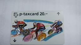 Switzerland-(w-28c)-zurich-sechstagerennen Art-(622l)-(20chf)-tirage-3.750-used+1card Prepiad Free - Suisse