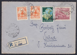 Yugoslavia 1951 Chess Olympiad, Recommended Letter Sent From Novi Sad To Vrsac - 1945-1992 Socialist Federal Republic Of Yugoslavia