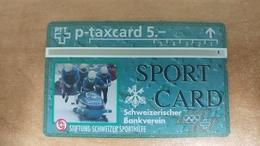 Switzerland-(kp-100.1c)-sportcard Bob-(307l)-(5chf)-tirage-5.000-used+1card Prepiad Free - Suisse