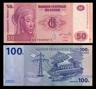 # # # 2 Banknoten Kongo (Congo) 150 Francs UNC # # # - Republic Of Congo (Congo-Brazzaville)
