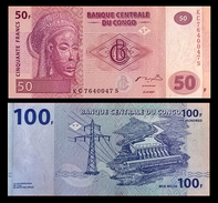 # # # 2 Banknoten Kongo (Congo) 150 Francs UNC # # # - Congo