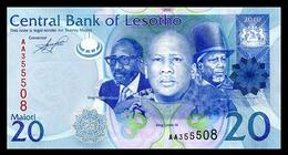 # # # Banknote Aus Lesotho 20 Maloti UNC # # # - Lesoto