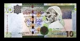 # # # Banknote Libyen (Libya) 10 Dinars UNC # # # - Libyen