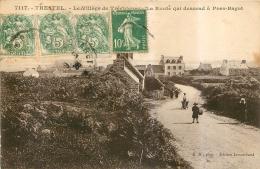 RARE TREGUIGNEC PAR TRESTEL LA ROUTE QUI DESCEND A PORS BAGOT - France
