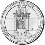 USA EEUU 25 CENTS. QUARTER DOLLAR  HOT SPRINGS 2010 D  UNC - PAS CIRCULÉE  - SC - EDICIONES FEDERALES