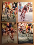 4 Cards CIC - Banque CIO  10,5 X 15 Cm - Wielrenners - Cyclisme - NOT Complete - Wielrennen