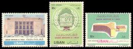 Lebanon, 1961, UNESCO 15th Anniversary, United Nations, MNH, Michel 750-752 - Lebanon