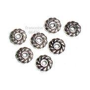 50 Perles Intercalaire Spacer _ FLEUR 4x4x2mm _ Apprêts Métal Création Bijoux _A003 - Pearls