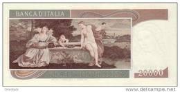 ITALY P. 104 20000 L 1975 UNC - 20000 Lire