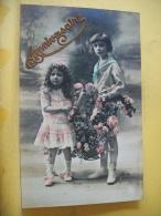 B11 5992 - ANNIVERSAIRE ( COUPLE D'ENFANTS ET LEUR CORBEILLE DE ROSES) - EDIT. ? N ° 496 - Anniversaire
