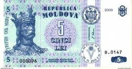 MOLDOVA 5 LEI 2009 P-9f UNC  [MD109f] - Moldawien (Moldau)