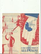 Document  De Si Vous Compter Voyager En ALLEMAGNE 1957  _ Voir Scan Details - Transports