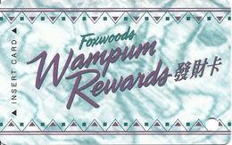 Foxwoods Casino Ledyard, CT - BLANK Slot Card - Wampum Rewards - Pattern Starts With Square - Casino Cards