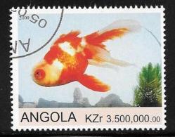 Angola, Scott Unlisted Used CTO Goldfish, 2000 - Angola