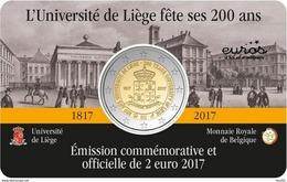 2 Euro 2017 * 200 Ans  UNIVERSITE DE LIEGE * COINCARD * BELGIQUE - Belgique