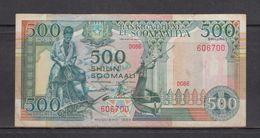 SOMALIA 1989 500 SHILLINGS BANKNOTE, CONDITION:  Fine, As Per Scan - Somalia